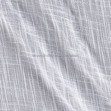 100% polyester 280cm width white cross-shaped faux linen sheer curtain fabric
