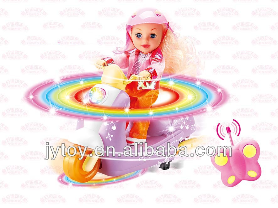 2 Channel Remote Control Motorcycle Baby Doll