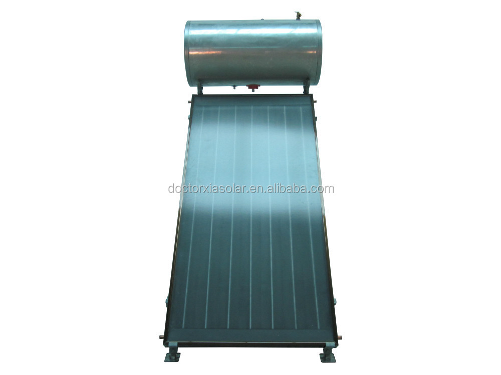 Compact non-pressurized solar energy selective coating bathroom heater