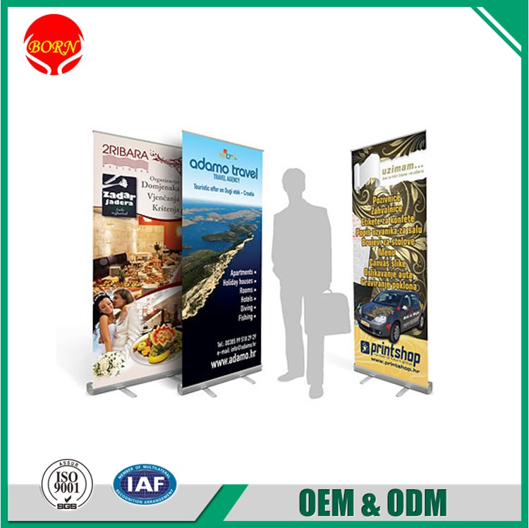 Retractable Aluminum OEM&ODM Hand Held Roll Up Banners