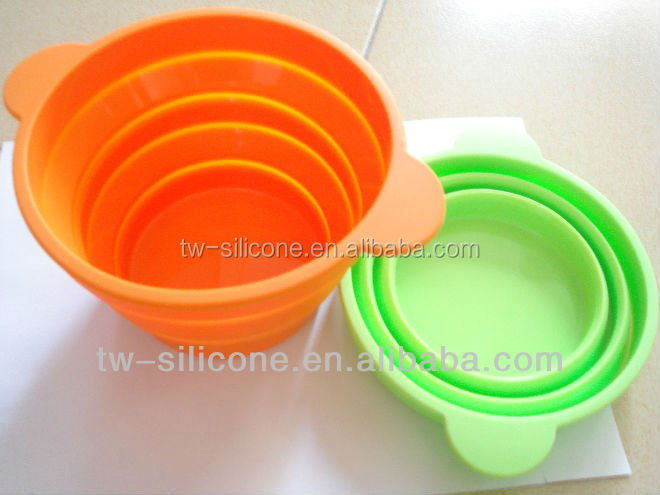 Collapsible dog bowls Silicone durable pet bowl made in china