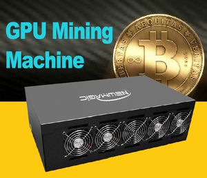 2017 Hot GPU Mining Farm Machine For ETH With P106-100 6GB 1600W 8GPU Miner Machine