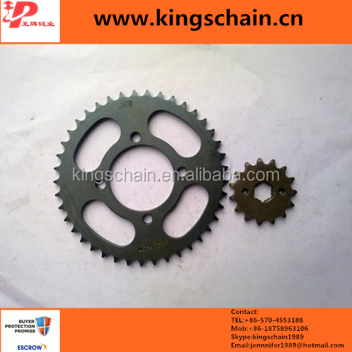 black motor spare parts 428 motorcycle chain and sprocket kits