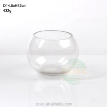 glass ball shape aquariums small size fish tank for home use