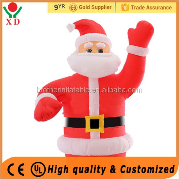 2016 cheap outdoor inflatables lighted santa claus wholesale santa stuffed toy