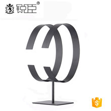 Stainless steel leather belt counter stand display for retail
