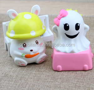 All Cute Soft MINI PU Foam Shape Custom Supplier New China Squishies Slow Rising Squishy Pink Ghost Stress Relief Toys Balls
