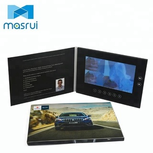 Custom 2.4'' 2.8'' 4.3'' 5'' 7'' 10'' tft screen invitation video grabber lcd video mailer with oem video card