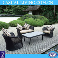 4pc Patio Rattan Furniture Set Tea Table and Chairs