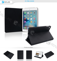 Paypal acceptable leather flip stand case for ipad mini 4 new products