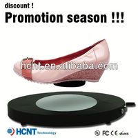 new invention ! magnetic levitating led display stand for shoe woman,soft leather men dress shoes
