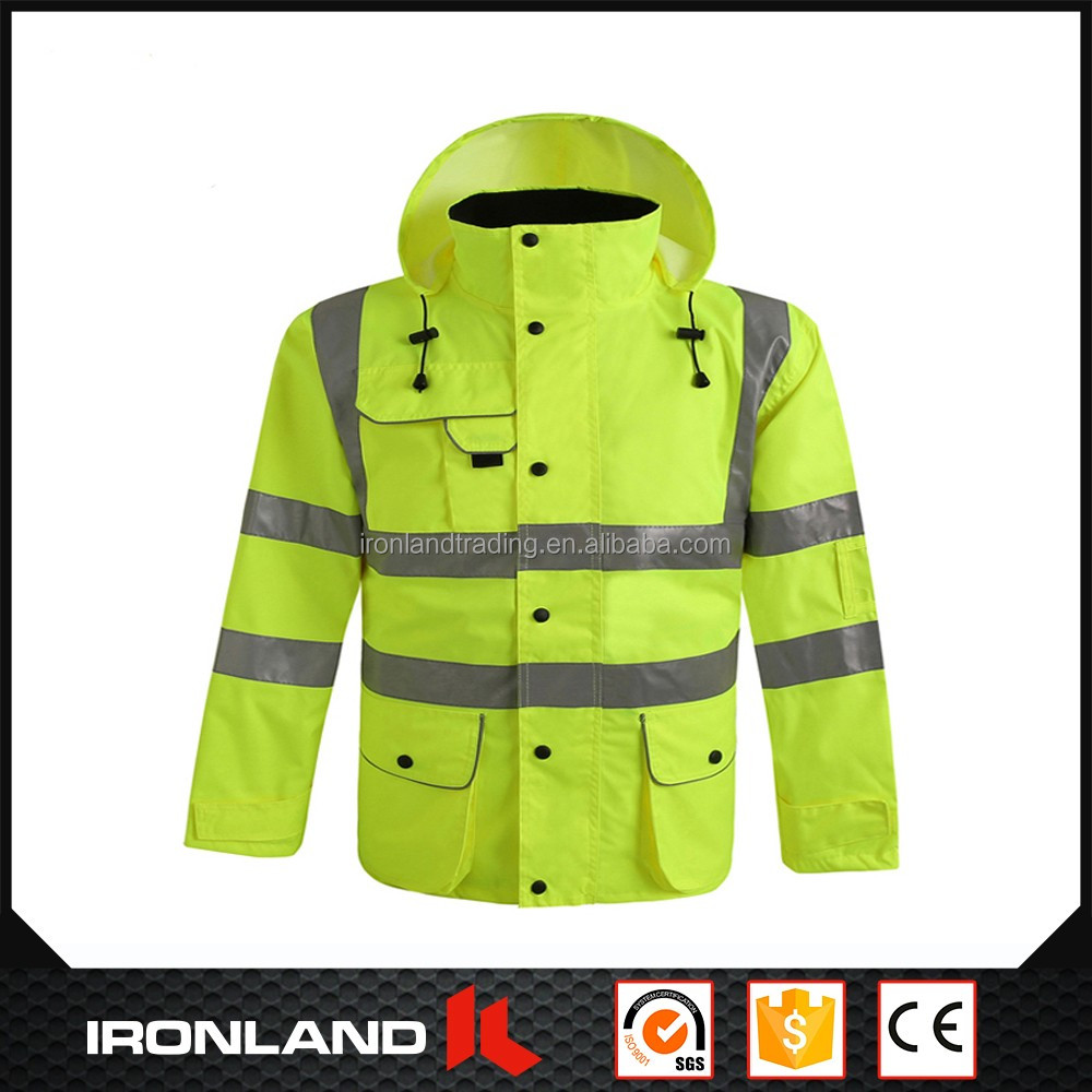 2017 wholesale high quality men's polyester oxford fabric with pu coating ups rain jacket