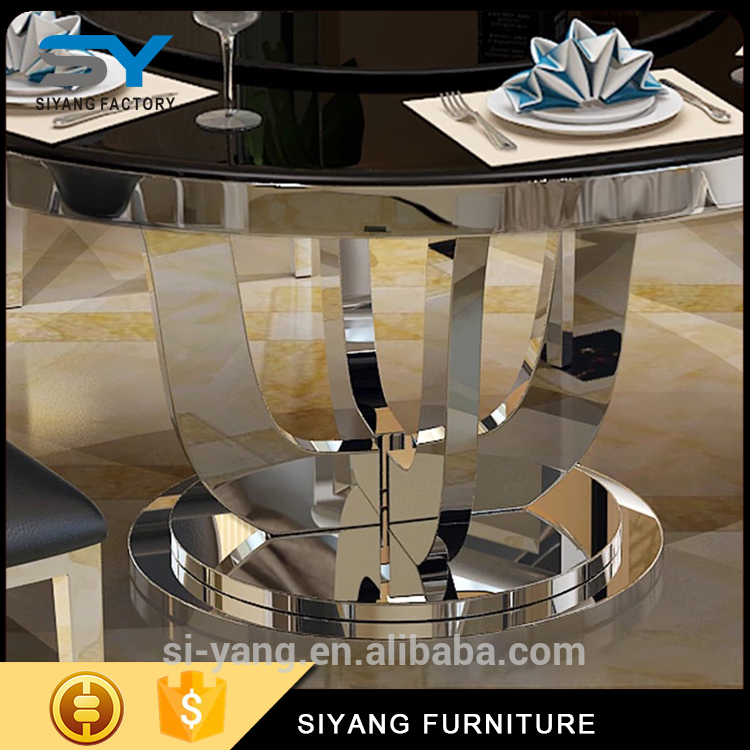 Low Price fancy design white black dining table for ICU&CCU use