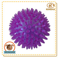 tpr squeaky plastic ecofriendly treat ball dog toy