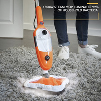 Powerful Floor Steam Mop with Vibration - 1300W - Great for Tile, Carpet, Woods & Laminate Flooring