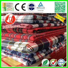 Yarn Dyed wholesale customized 100% cotton Plaid Fabric factory