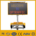 Outdoor Programmable Solar Power Supply Vms Trailer Led Moving Message Display Sign