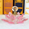 Exquisite Pink Crystal Glass Lotus Perfume Bottles for Wedding Giveaway Gift