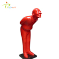 Outdoor Garden Fiberglass Resin Man Sculpture for Hotel Decoration