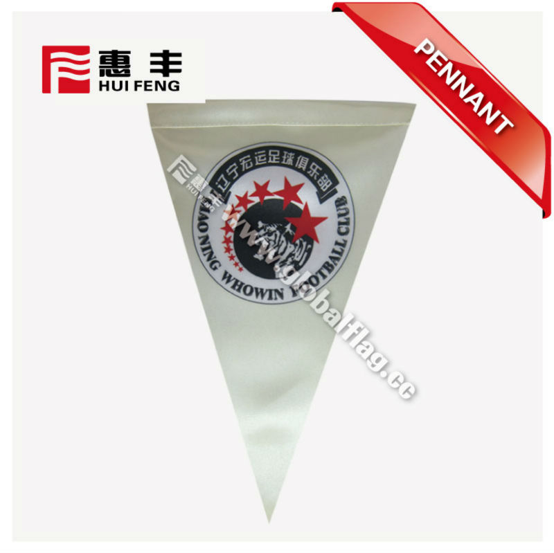 2017 custom hanging triangle sports pennant flag