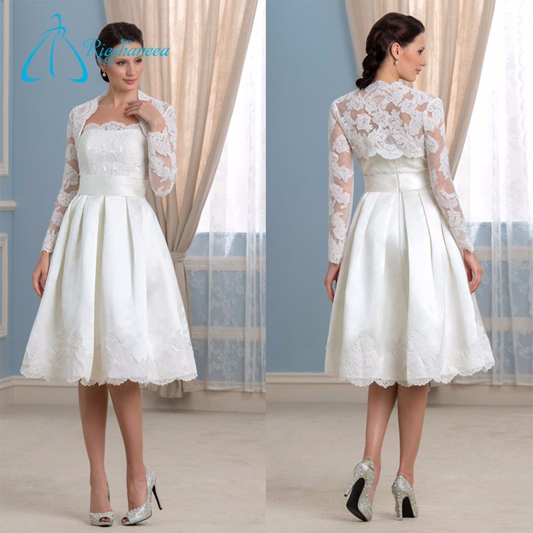 Satin Lace Tulle Mother Of The Bride Dress With Jacket
