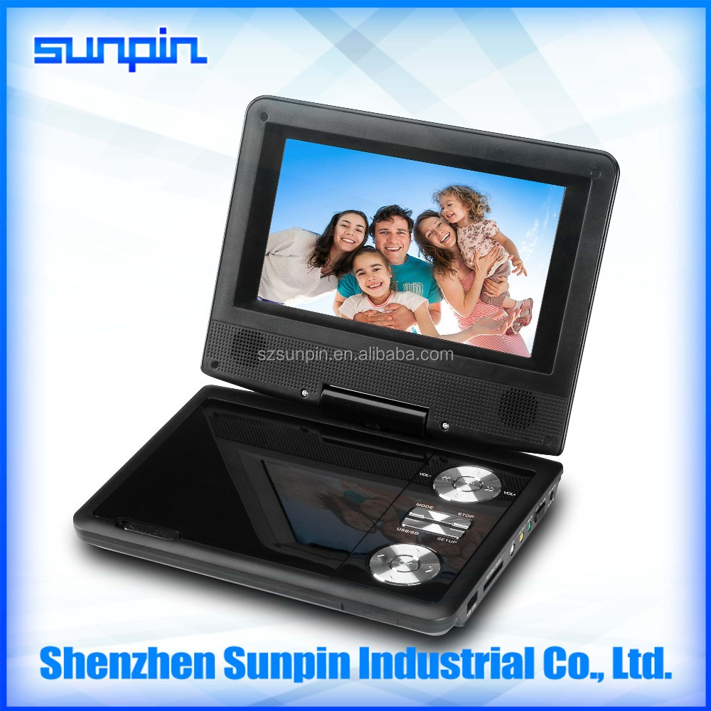 Rotated 270 degree rechargeable kid friendly portable cd dvd player