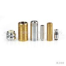 2013 Salable Product Ecig 18650/18350 Batteries Tube K100 Mechanical Mod With Patent