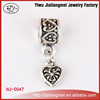 Wholesale DIY bracelet jewelry handmade silver metal charms beads