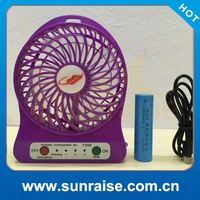Strong wind rechargeable outdoor solar fan