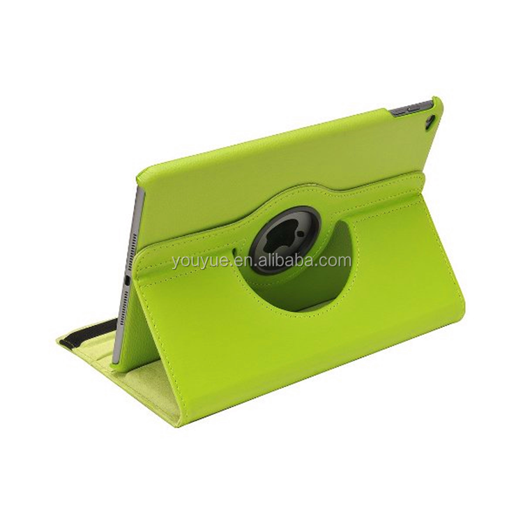 High End Green 360 Degree Rotating Custom PU Learher Stand Case For Ipad Air 2