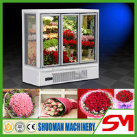 Top sale high quality welcomed glass flower display showcase