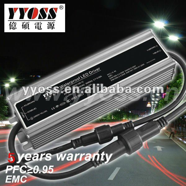 waterproof constant voltage 12v 24v 36v 48v LED driver (100W 150w 200W) 5 years warranty dc power supply