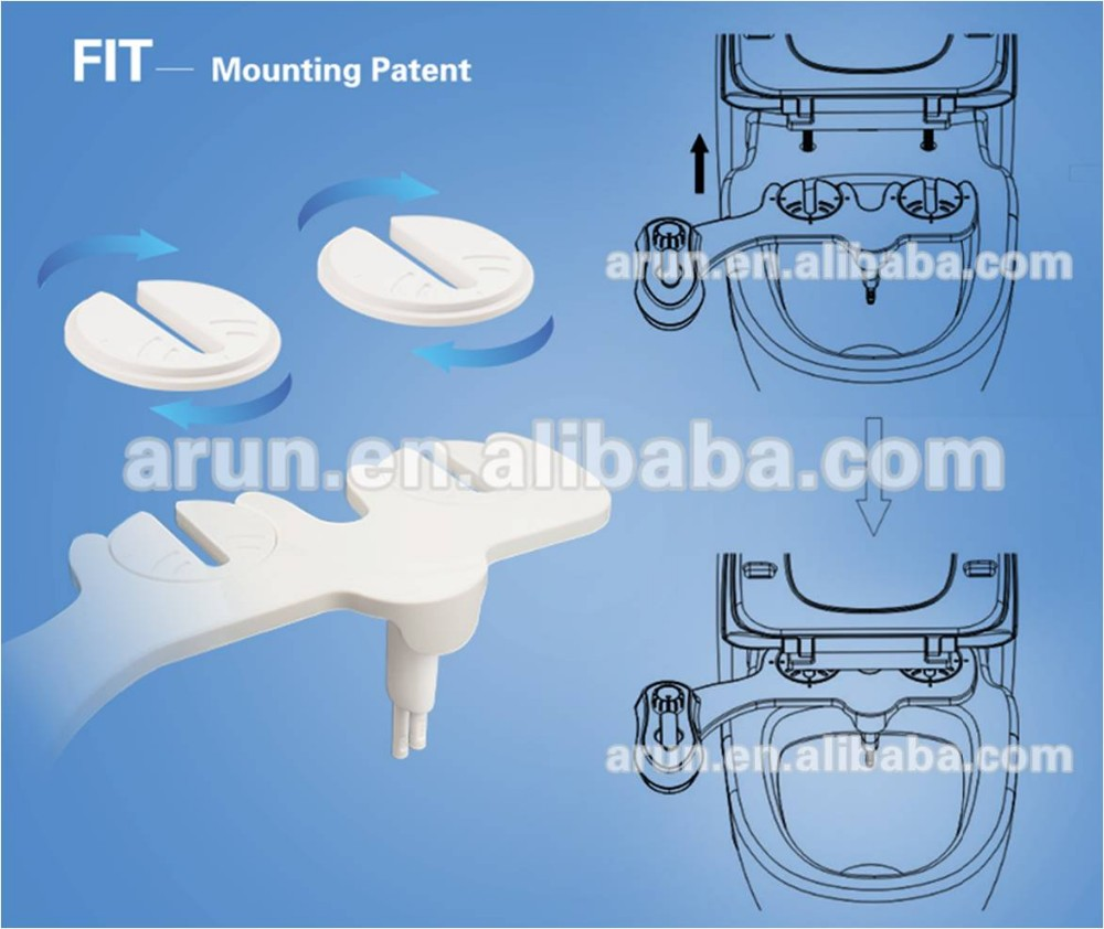 AMI920 Hot water non electric bidet with double nozzles