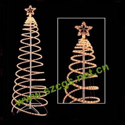 Factory price china factory christmas rope light silhouette