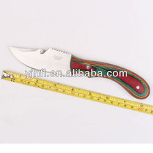 Hardwood handle pakistan stainless steel hunting knife