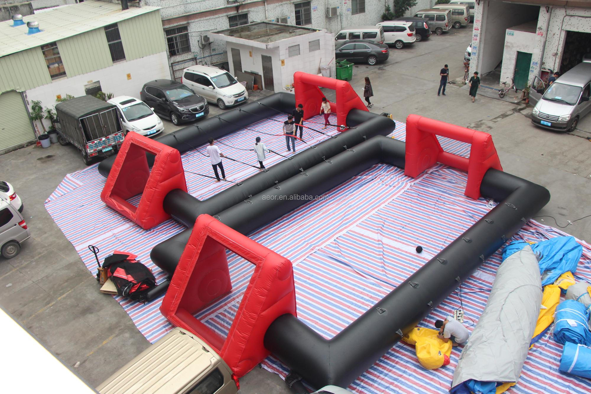 Popular indoor inflatable water soccer field for sale,inflatable soccer carnival game