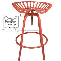 Esschert Design Tractor Seat adjustable vintage metal stool