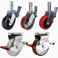 Good Quality Heavy Duty Swivel Adjustable Scaffolding Caster Wheels With Brake