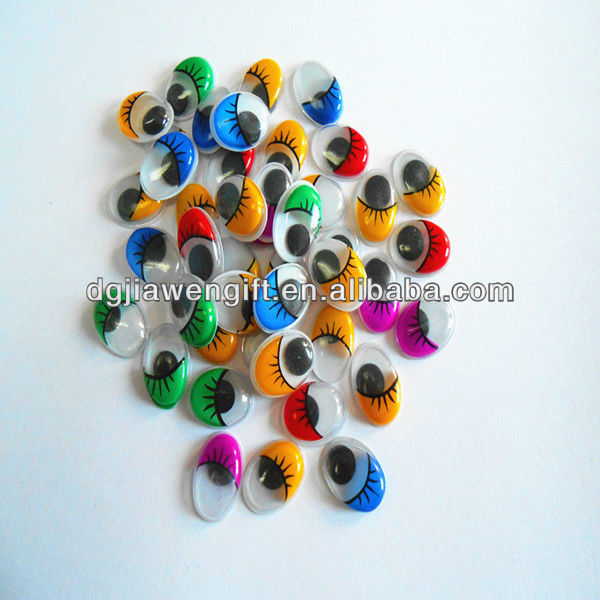 Dolls Accessories Plastic Oval 12*16mm Moving Eyes