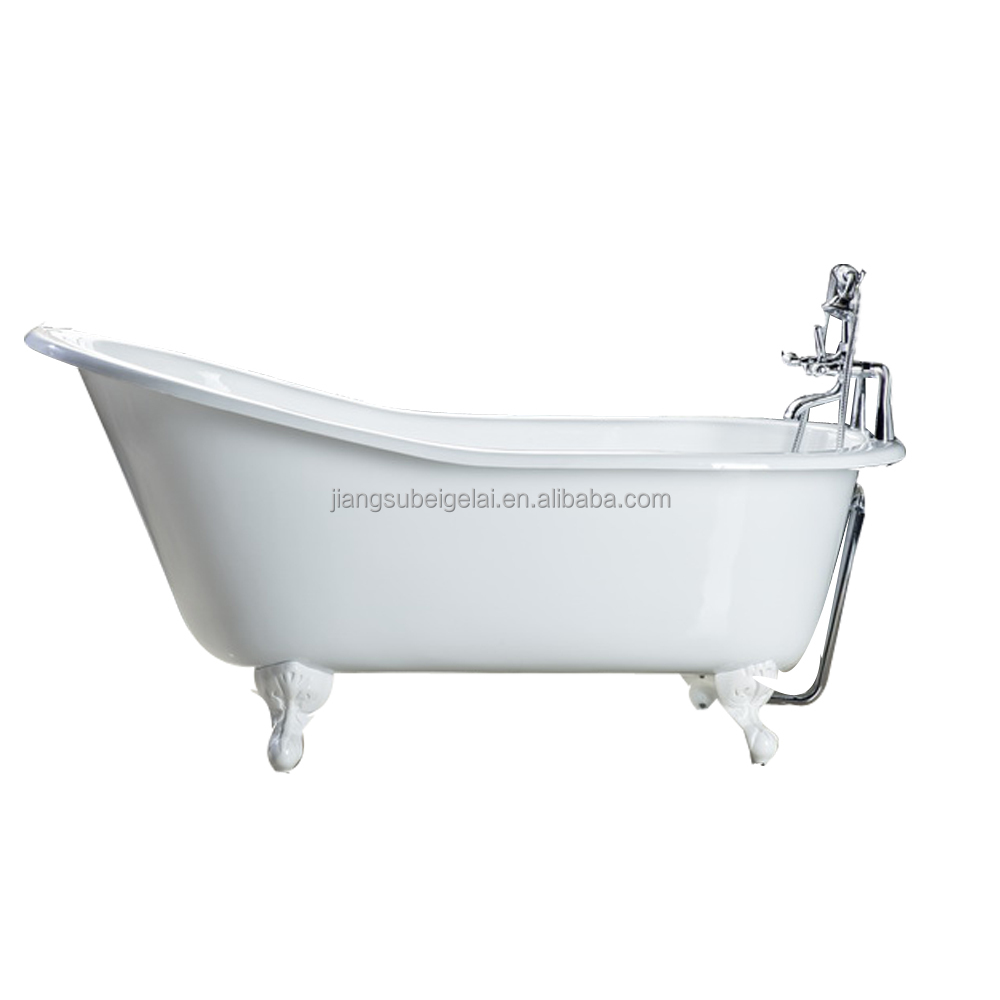 Antique Vintage Clawfoot Enamelled Cast Iron Bathtub With Different Color And