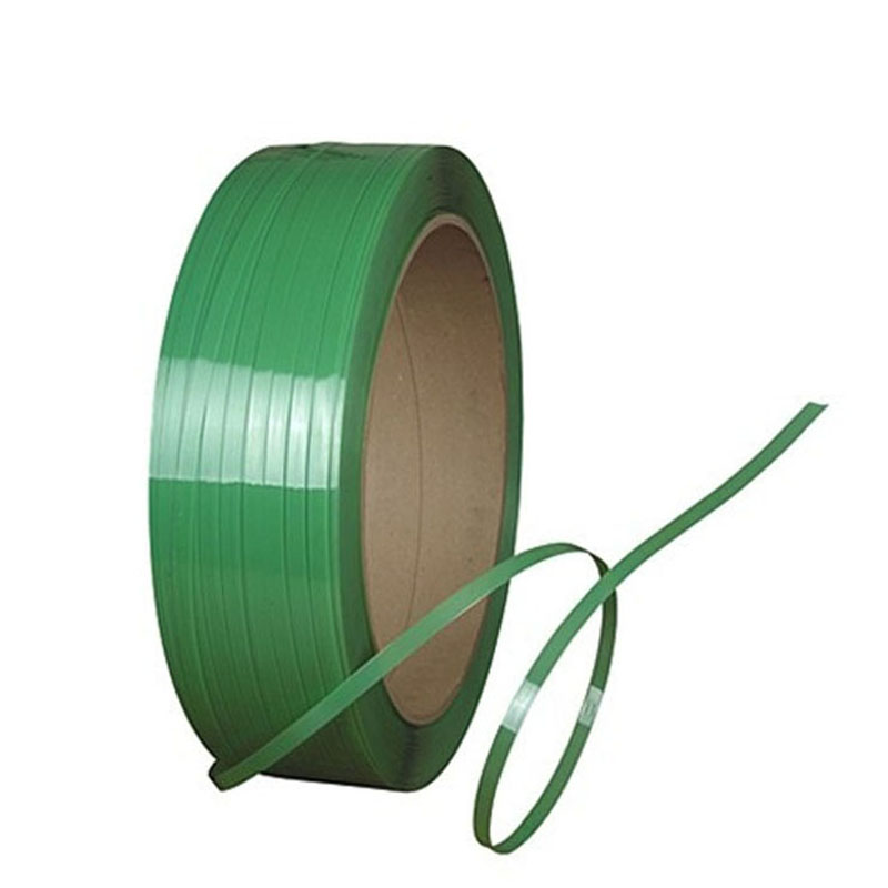 New raw material 1608 green embossed PET strapping for plywood industry