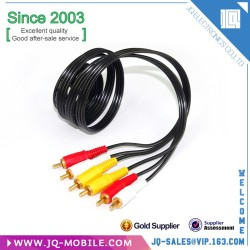 Hot sale 3FT/1M 3.5mm To 3 RCA Cable Video AUX Audio Cable