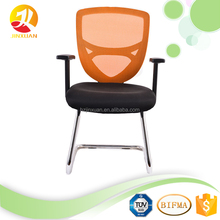 High quality Middle back Office Meeting Mesh Chair without wheels conference room chairs for Visit Chair