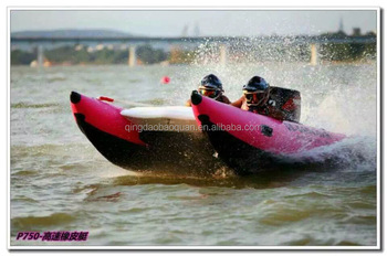 4.1m high speed inflatable zapcat boat