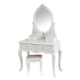 D1701 MDF carved wood dresser luxury classic cheap wooden dressing table with modern designs makeup vanity table wholesale