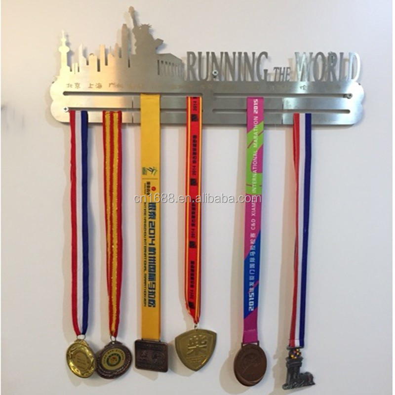 Custom design stainless steel medal hanger display