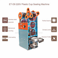 1pcs ET-D9 220V Plastic Cup Sealing Machine ,Milk tea sealing machine,standard cup dia:7.0cm-9.5cm, With counting function