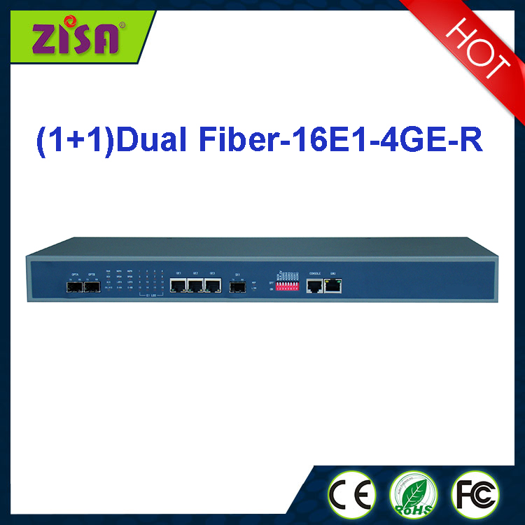Factory direct: E+GE PDH MUX, 16E1+GE PDH fiber optical multiplexer