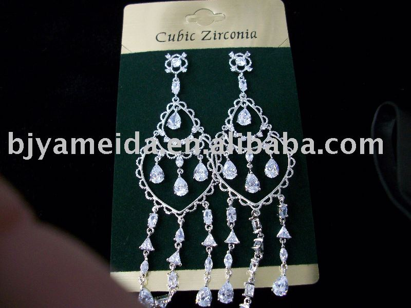 wedding earring/zircon jewelry/south America style