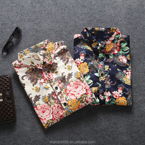 latest design for men printed shirt wholesale mens clothing